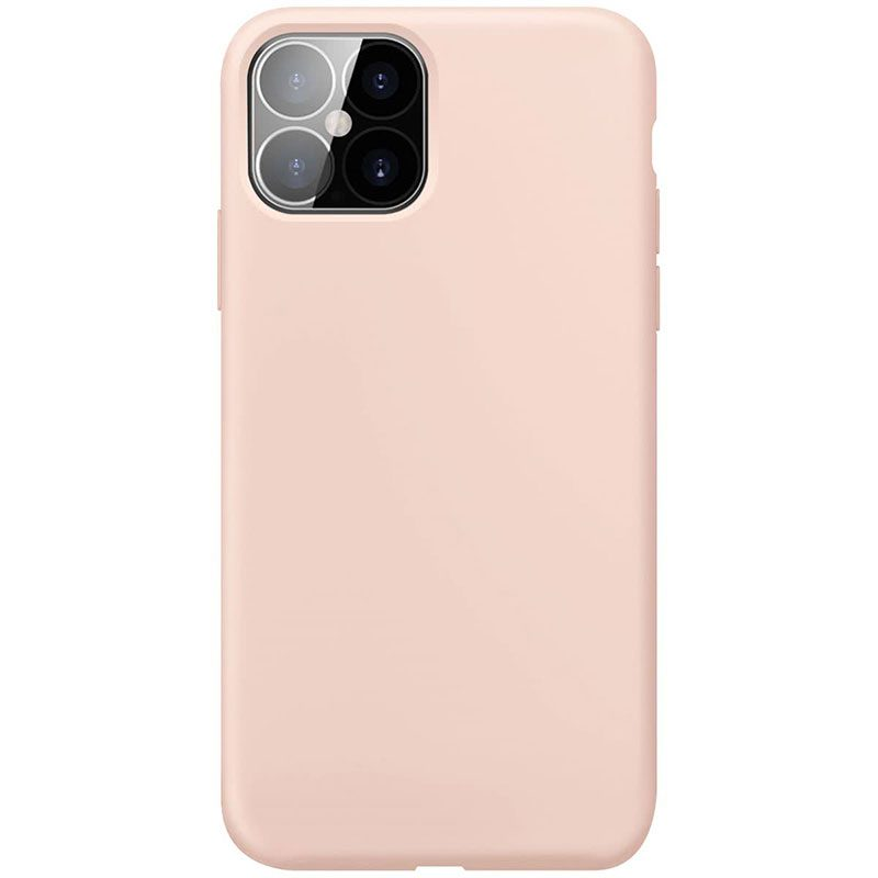 Xqisit Silicone Anti Bac Rose Coque iPhone 12 Pro Max