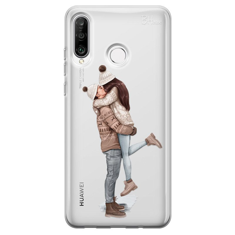 All I Want For Christmas Brown Hair Coque Huawei P30 Lite