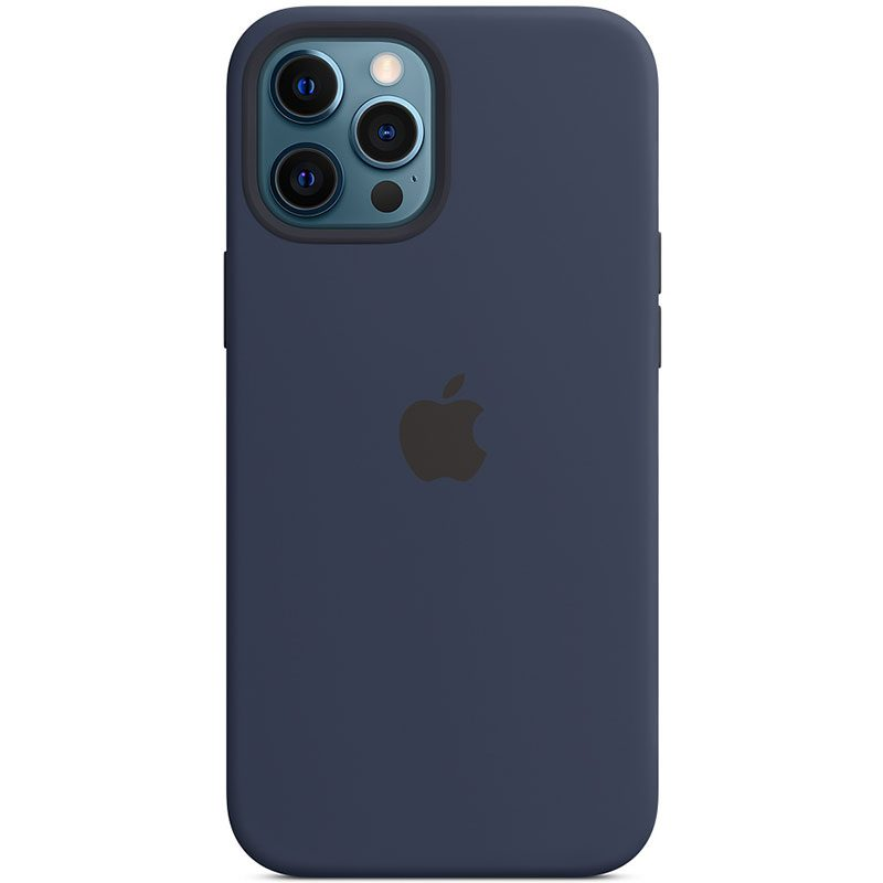 Apple Deep Navy Silicone MagSafe Coque iPhone 12 Pro Max