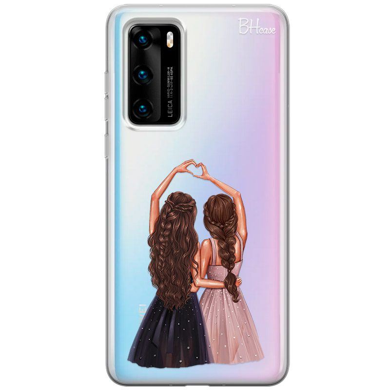 Besties Brown Hair Coque Huawei P40
