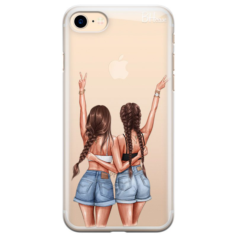 Better Together Brown Hair Coque iPhone 8/7/SE 2 2020