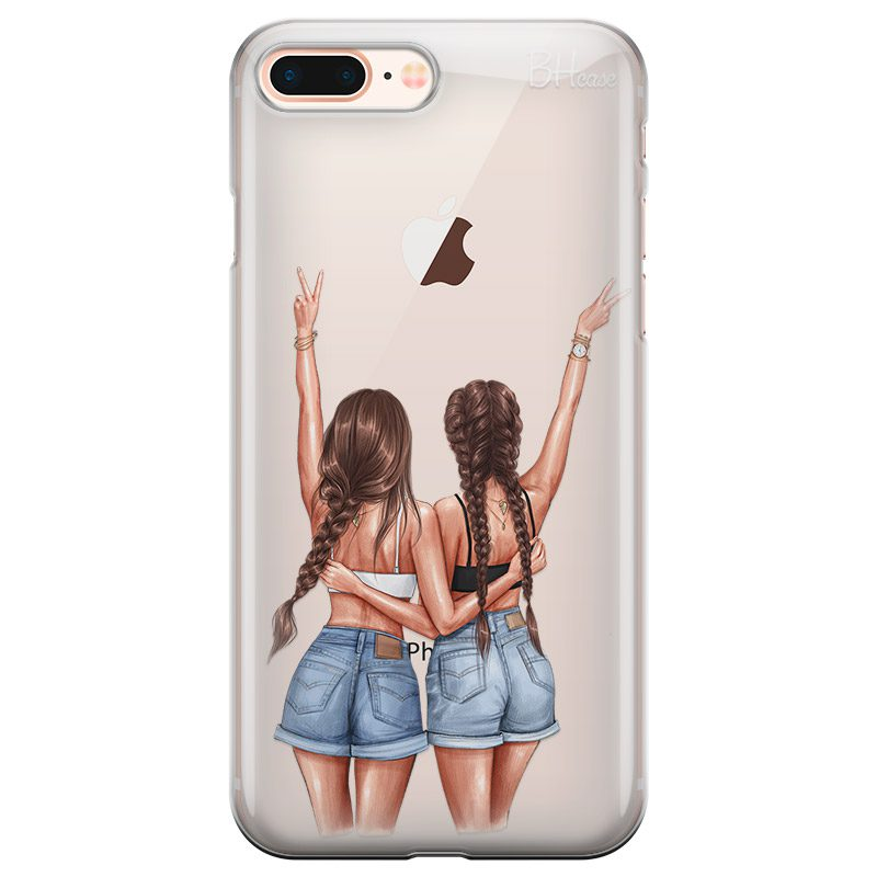 Better Together Brown Hair Coque iPhone 7 Plus/8 Plus