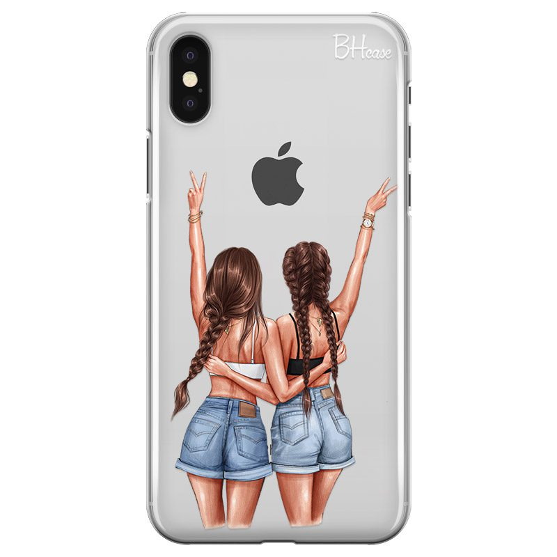 Better Together Brown Hair Coque iPhone X/XS