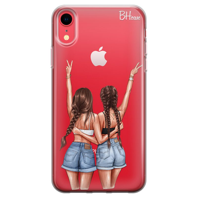 Better Together Brown Hair Coque iPhone XR