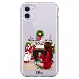 Christmas Day Brown Hair Coque iPhone 11