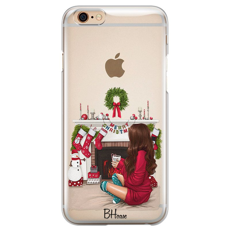 Christmas Day Brown Hair Coque iPhone 6 Plus/6S Plus