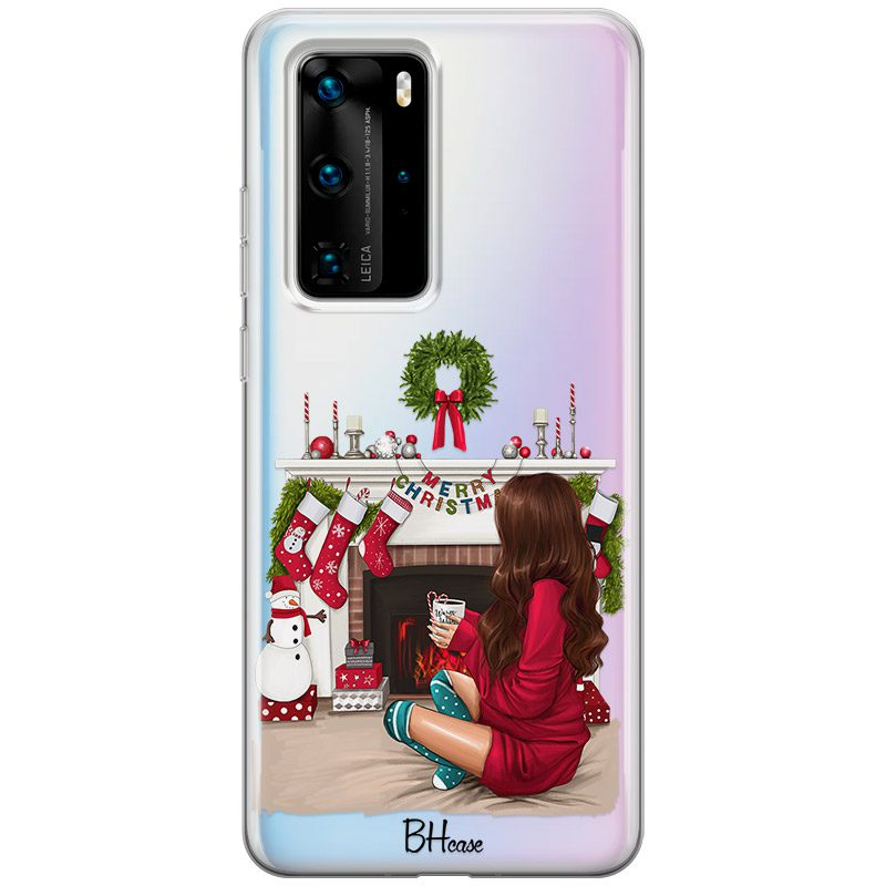 Christmas Day Brown Hair Coque Huawei P40 Pro