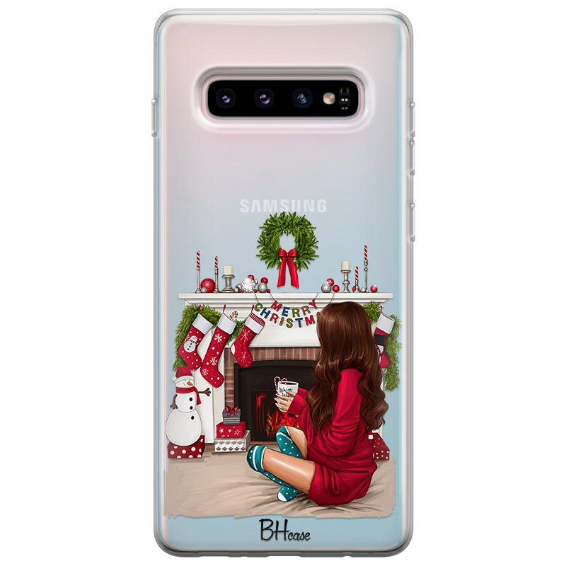 Christmas Day Brown Hair Coque Samsung S10