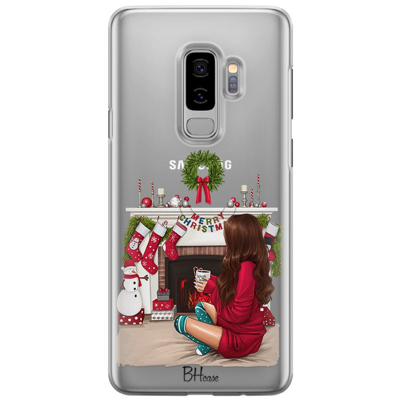 Christmas Day Brown Hair Coque Samsung S9 Plus