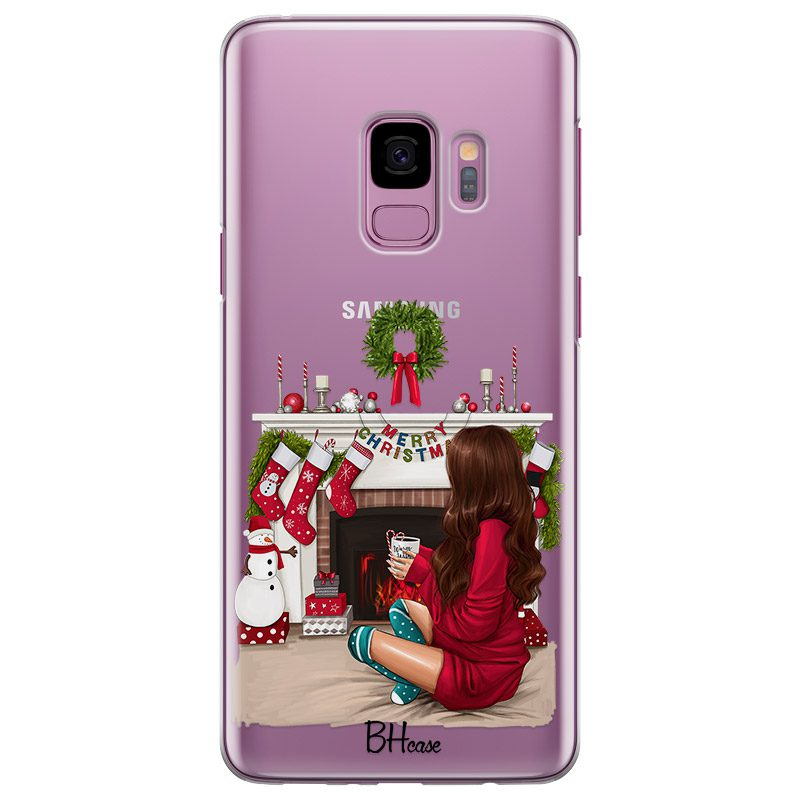 Christmas Day Brown Hair Coque Samsung S9
