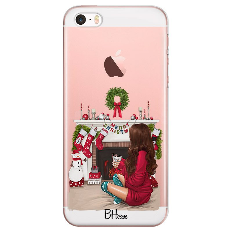 Christmas Day Brown Hair Coque iPhone SE/5S