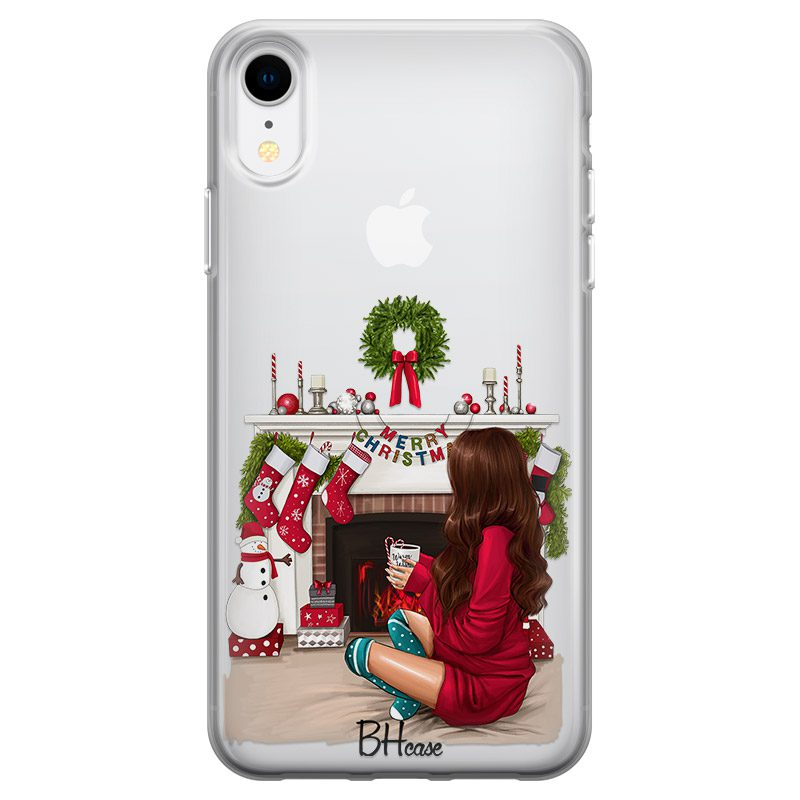 Christmas Day Brown Hair Coque iPhone XR
