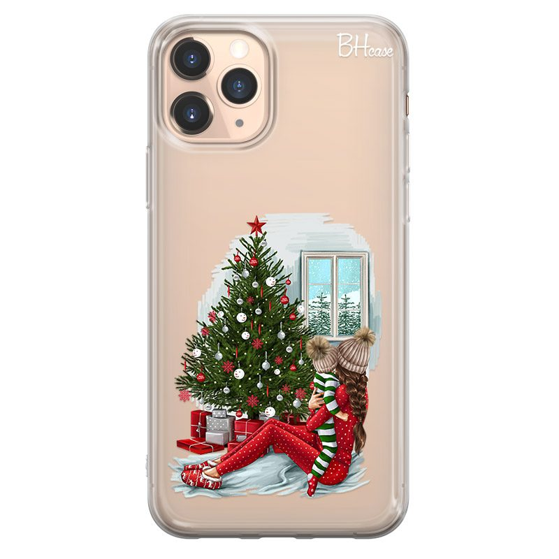 Christmas Mom Brown Hair Coque iPhone 11 Pro Max