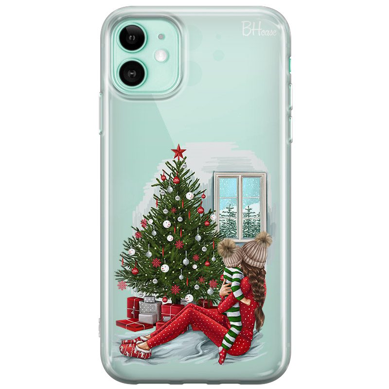 Christmas Mom Brown Hair Coque iPhone 11