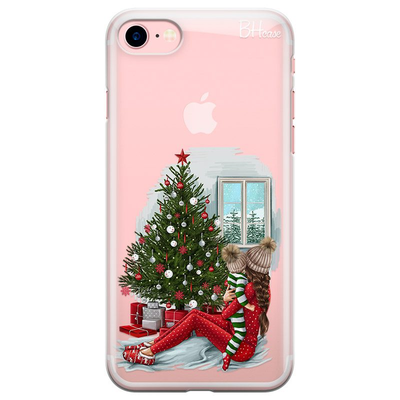 Christmas Mom Brown Hair Coque iPhone 8/7/SE 2 2020