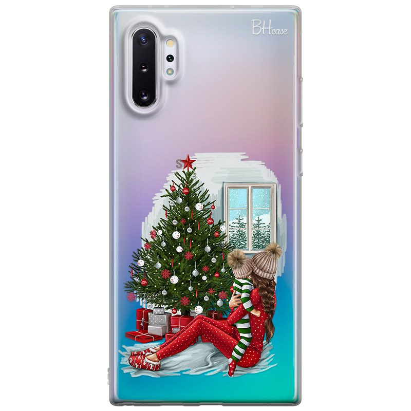 Christmas Mom Brown Hair Coque Samsung Note 10 Plus