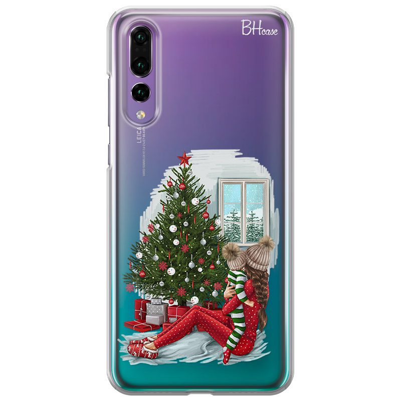 Christmas Mom Brown Hair Coque Huawei P20 Pro