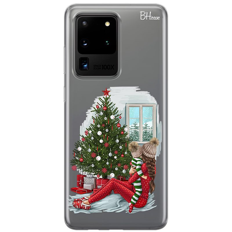Christmas Mom Brown Hair Coque Samsung S20 Ultra
