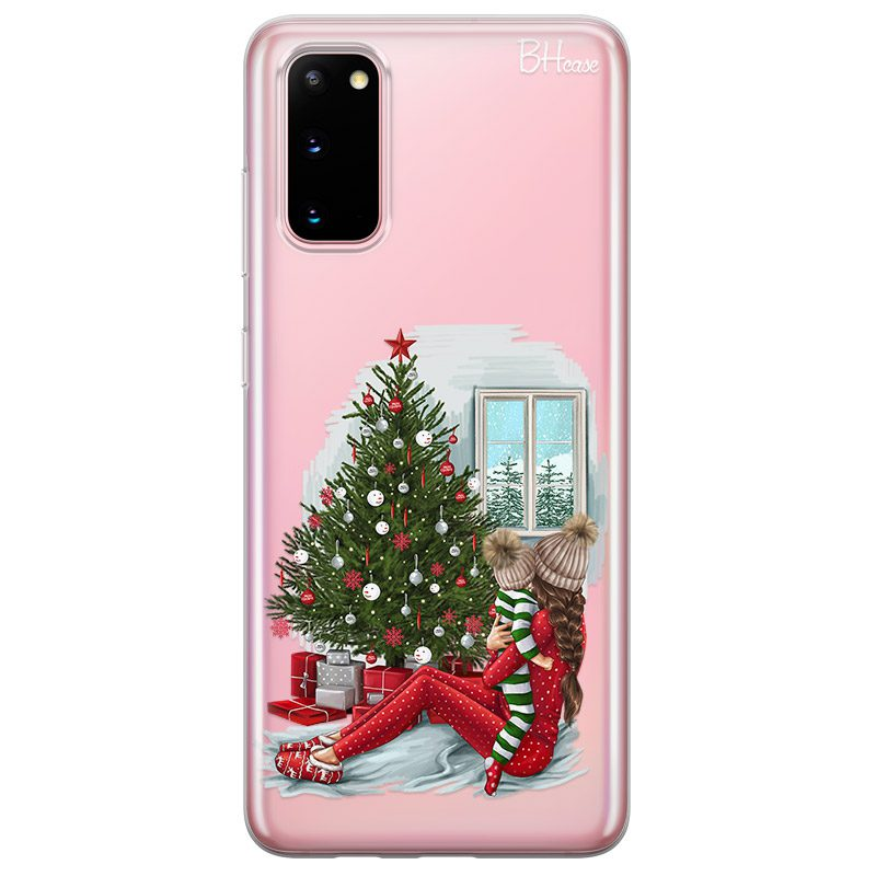 Christmas Mom Brown Hair Coque Samsung S20