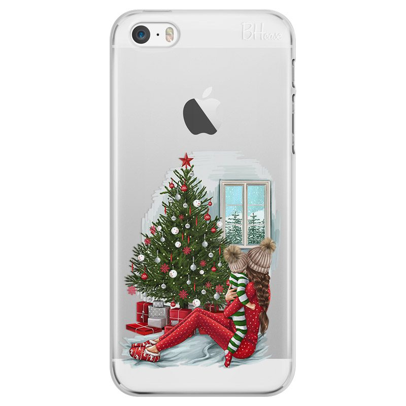 Christmas Mom Brown Hair Coque iPhone SE/5S