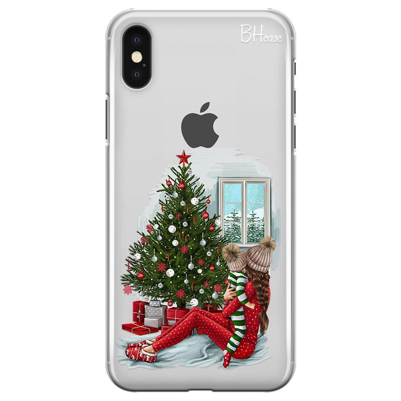 Christmas Mom Brown Hair Coque iPhone X/XS