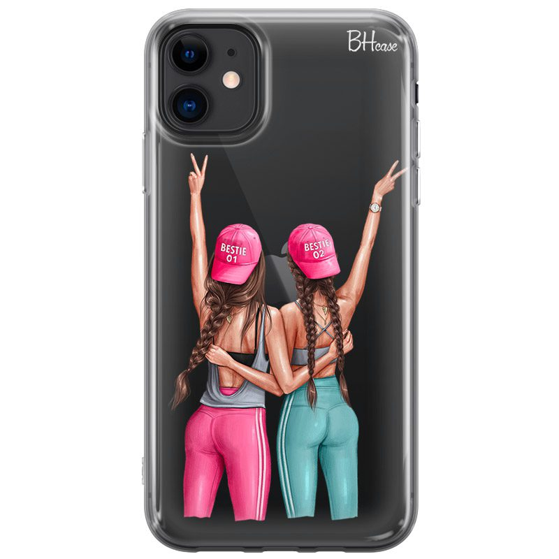 Girls Can Brown Hair Coque iPhone 11