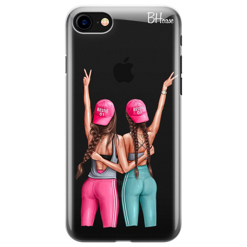 Girls Can Brown Hair Coque iPhone 8/7/SE 2 2020
