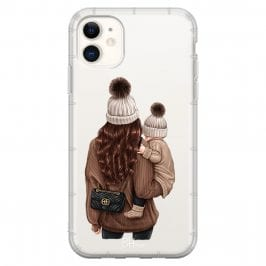 Warm Wishes Mom Brown Hair Coque iPhone 11