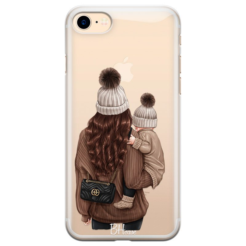 Warm Wishes Mom Brown Hair Coque iPhone 8/7/SE 2 2020
