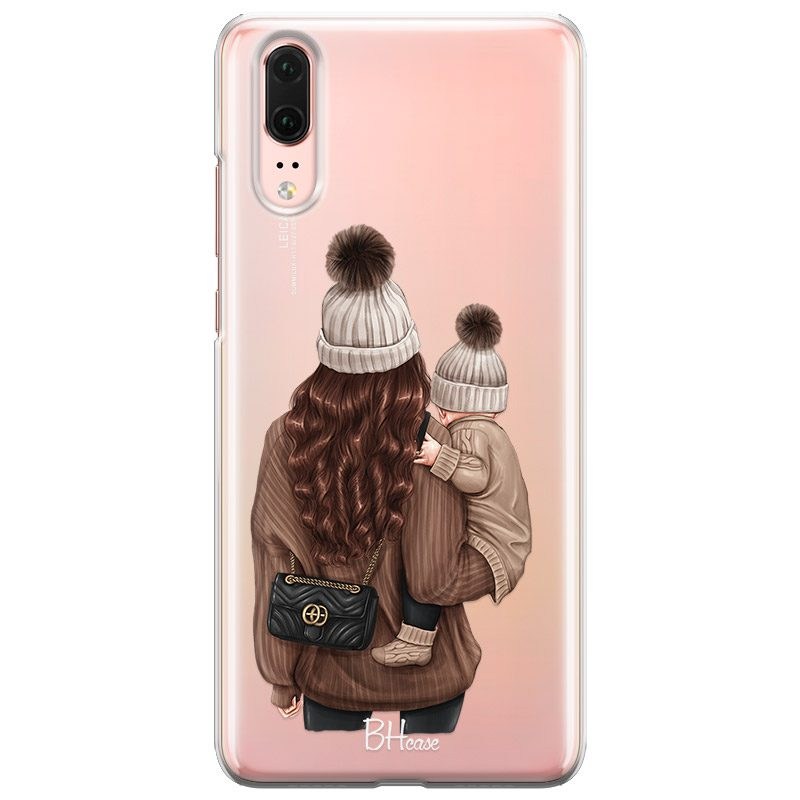 Warm Wishes Mom Brown Hair Coque Huawei P20