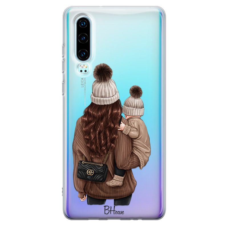 Warm Wishes Mom Brown Hair Coque Huawei P30