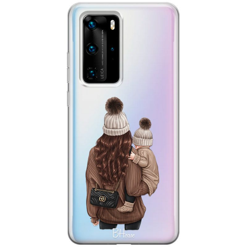 Warm Wishes Mom Brown Hair Coque Huawei P40 Pro