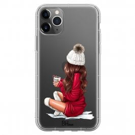 Winter Chill Brown Hair Coque iPhone 11 Pro Max