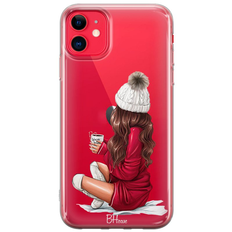 Winter Chill Brown Hair Coque iPhone 11