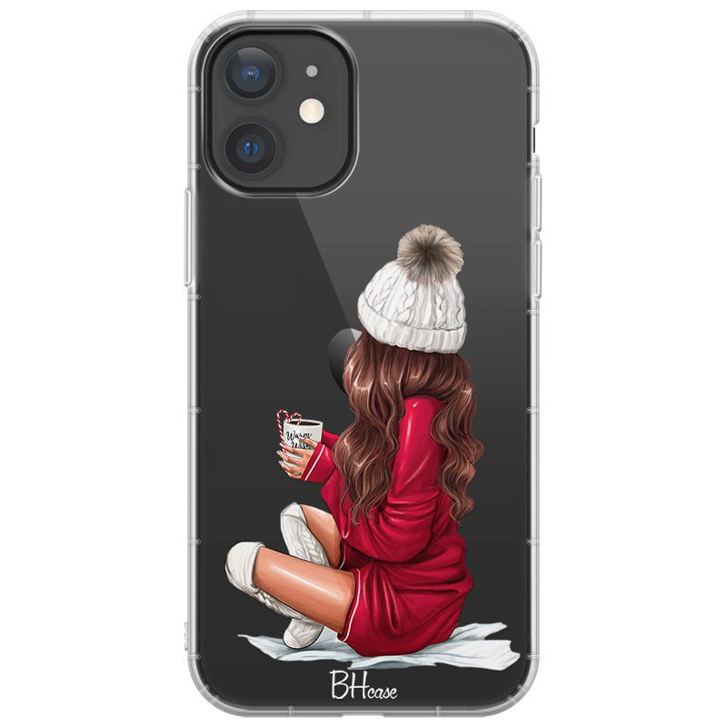 Winter Chill Brown Hair Coque iPhone 12/12 Pro