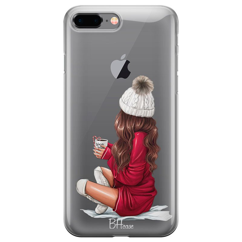 Winter Chill Brown Hair Coque iPhone 7 Plus/8 Plus