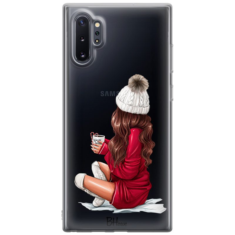 Winter Chill Brown Hair Coque Samsung Note 10 Plus
