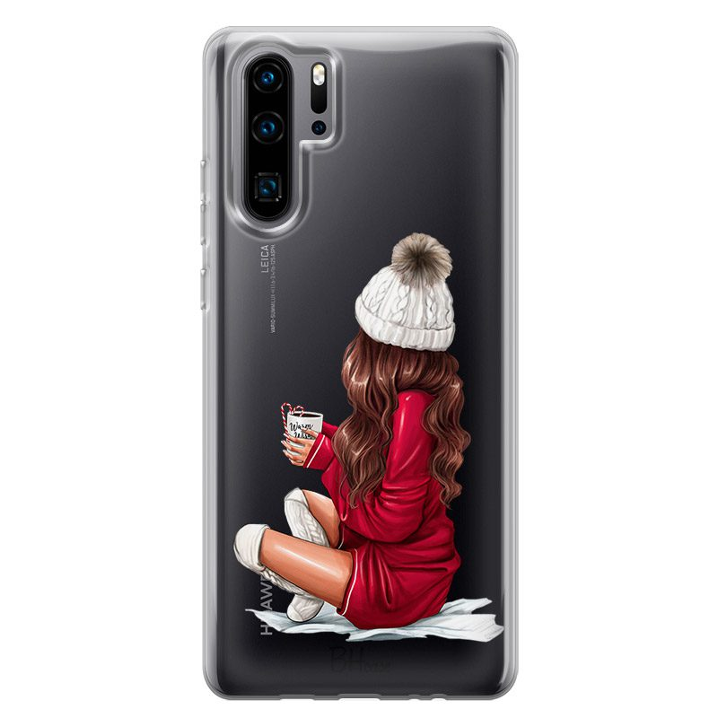 Winter Chill Brown Hair Coque Huawei P30 Pro