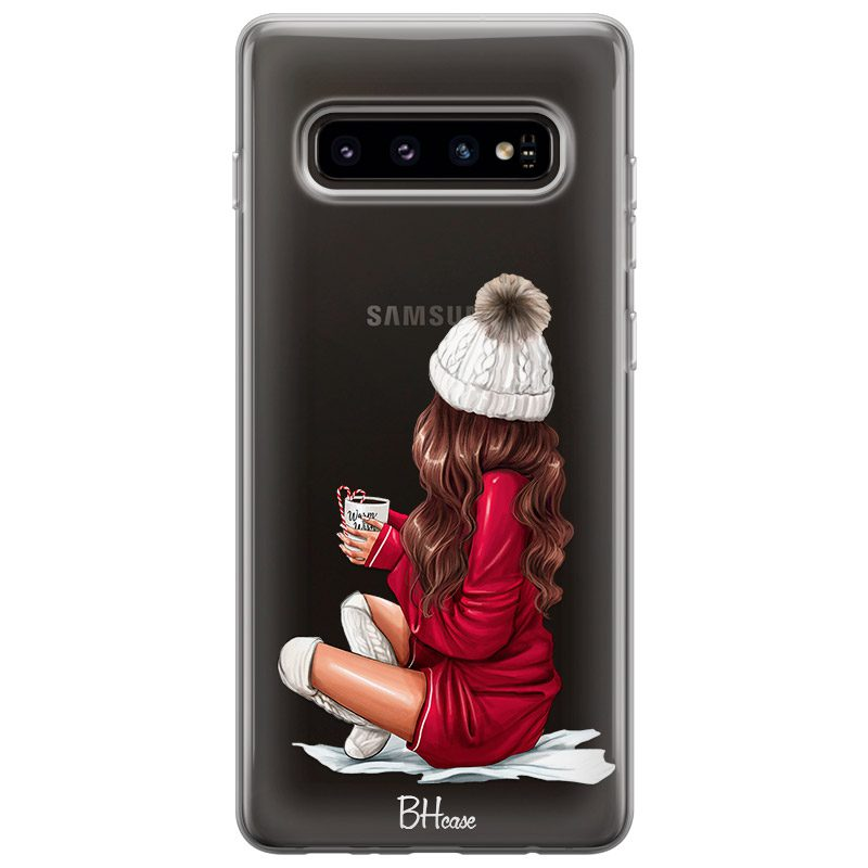 Winter Chill Brown Hair Coque Samsung S10 Plus
