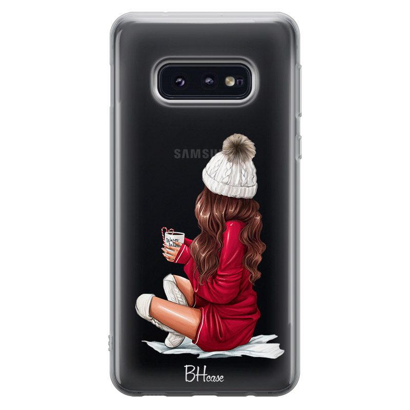 Winter Chill Brown Hair Coque Samsung S10e