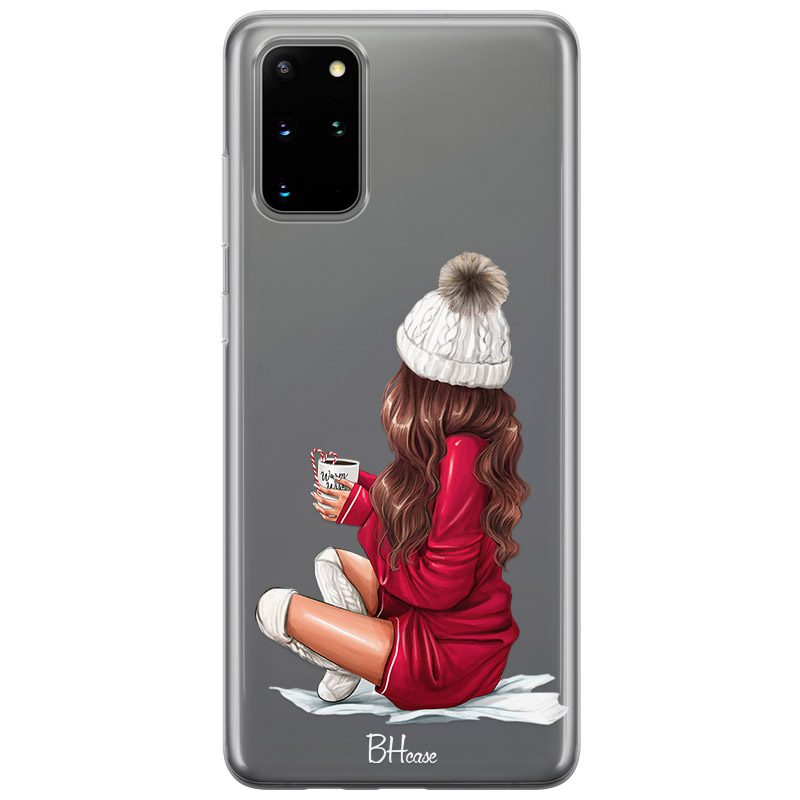 Winter Chill Brown Hair Coque Samsung S20 Plus