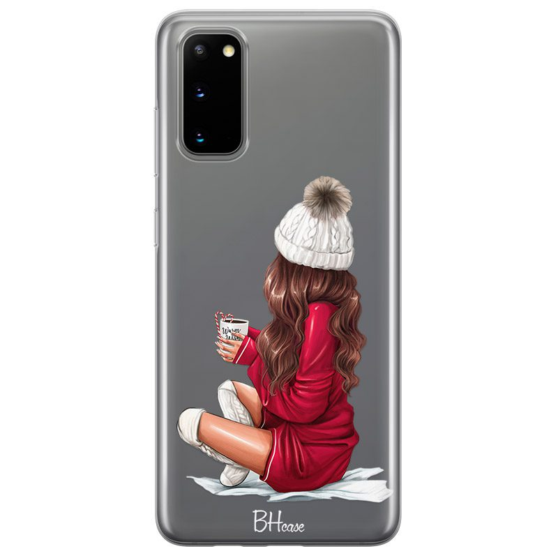 Winter Chill Brown Hair Coque Samsung S20