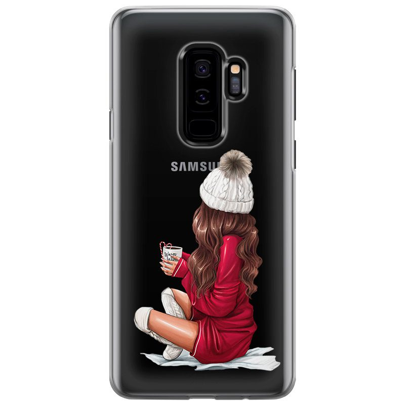Winter Chill Brown Hair Coque Samsung S9 Plus