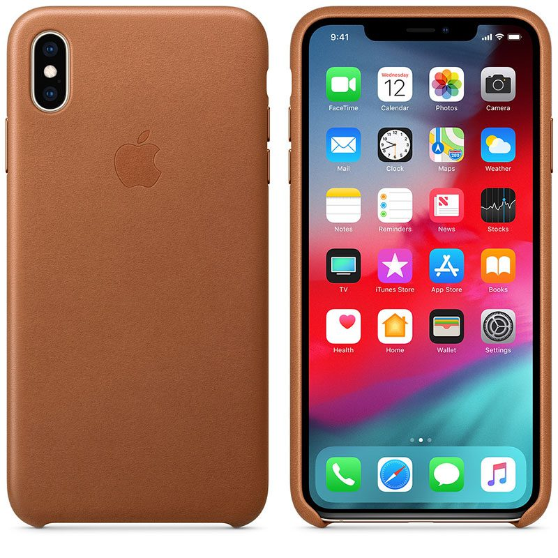 Apple Leather Saddle Brown Coque iPhone XS Max