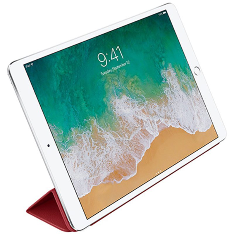 """Apple Leather Smart Cover Red Coque iPad 10.5"""" Air/Pro"""