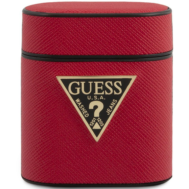Guess AirPods Case Saffiano Red