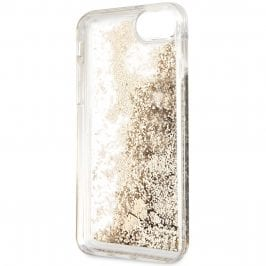 Guess Glitter Floating Hearts Gold  Coque iPhone 8/7/SE 2 2020