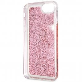 Guess Glitter Floating Hearts Pink Coque iPhone 8/7/SE 2 2020