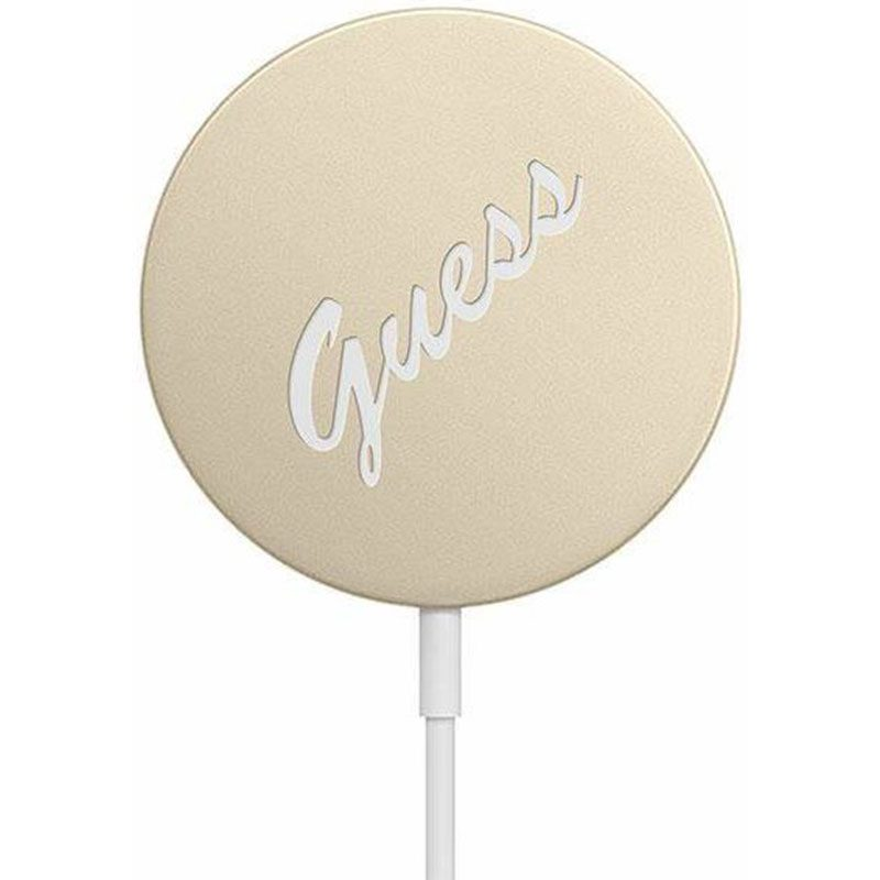 Guess Magnetic Wireless Charger 15W Vintage Gold