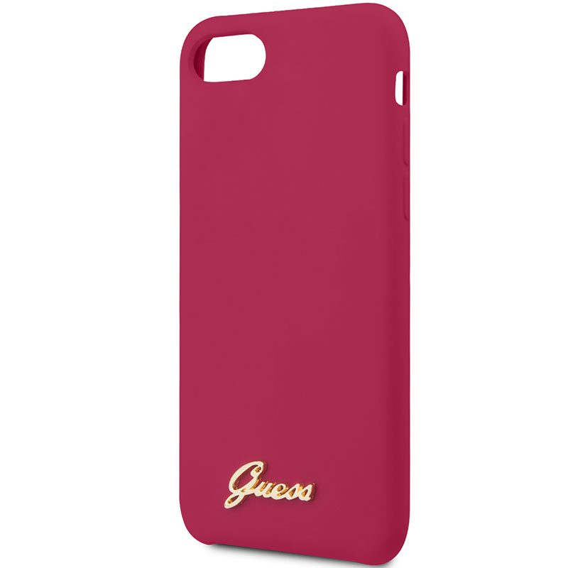 Guess Retro Silicone Burgundy Coque iPhone 8/7/SE 2 2020